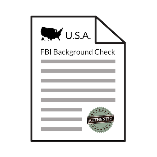 Authenticated FBI Background Check