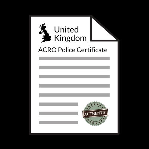 acro police certificate