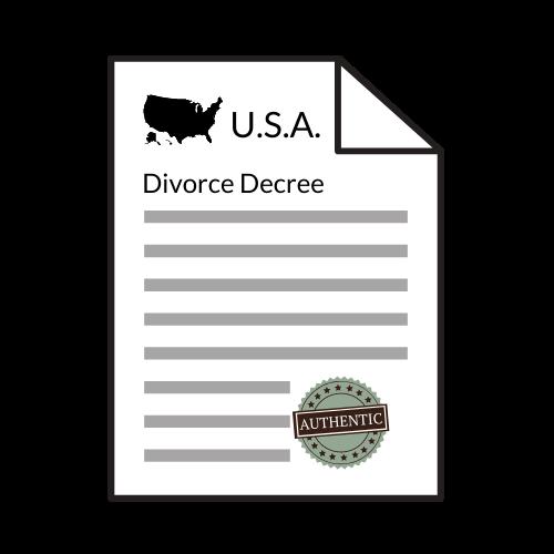 US Divorce Decree